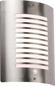Knightsbridge Extérieur Mural Plafonnier Luminaire PIR capteur en acier inoxydable Lampe-afficher le titre d`origine FXkXxnGz-07221614-888413106
