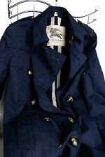 Burberry London Delmont Double-Breasted TrenchCoat Ink Blue USA 08 UK 10 EU 42