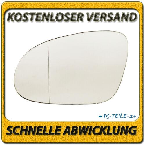 Außenspiegel Spiegelglas für VW PASSAT B6 2005-2010 links Fahrerseite asphärisch