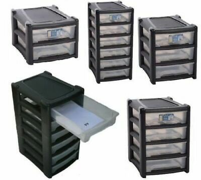 Wham Plastic A 4 Shallow Drawer Storage Unit Cabinet Organizer Home Office Study Ebay