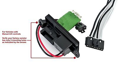 HVAC Blower Motor Fan Resistor Kit and Harness for Manual AC Controls-  Replac... | eBay