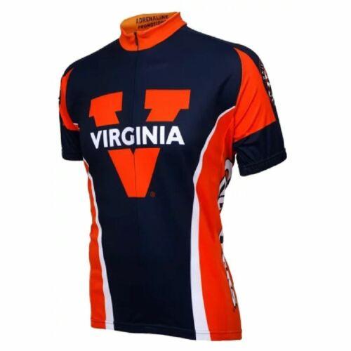 Adrenaline Promo University of Virginia Cavaliers 3//4 zip Men/'s Cycling Jersey