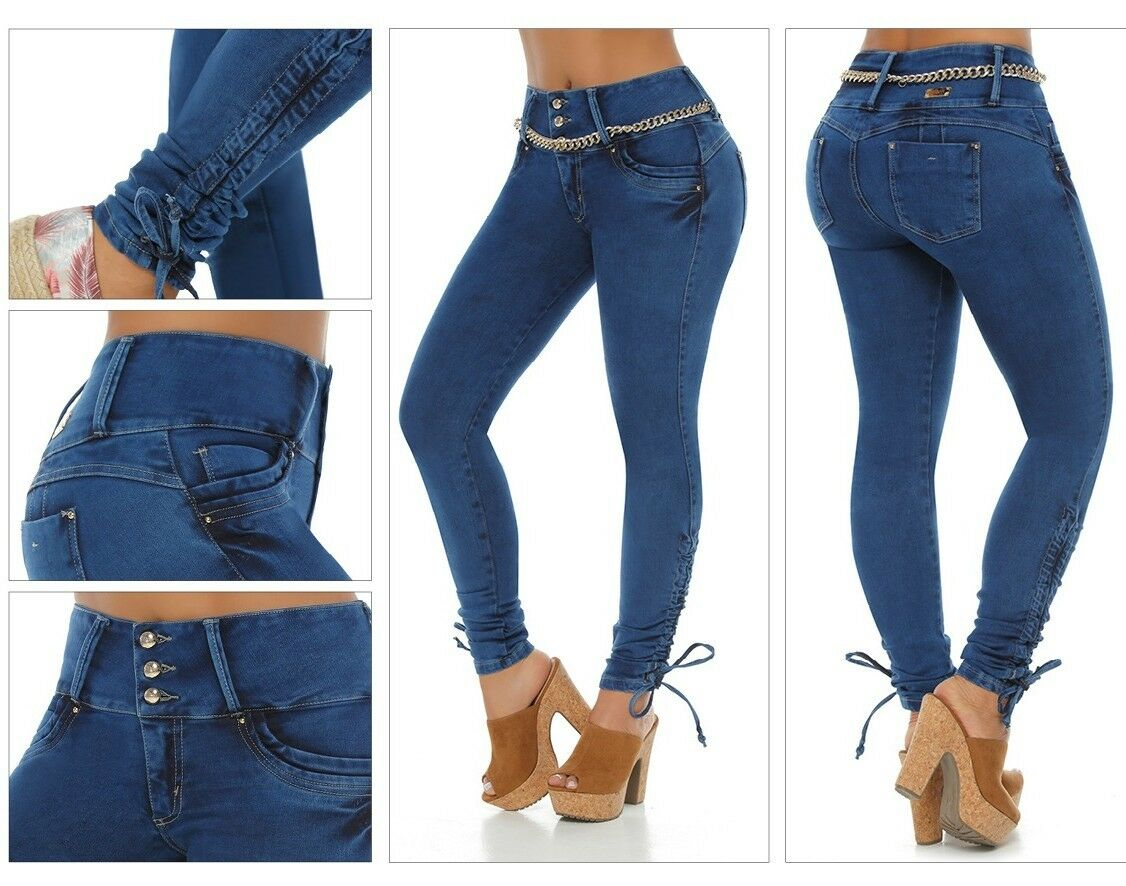 Verox Jeans colombianos butt lifter fajas colombianas jeans levanta cola 3119