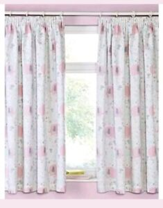 Details About Baby S Pink Elephant Blackout Curtains 66 X54 D Nursery Bedroom Grey