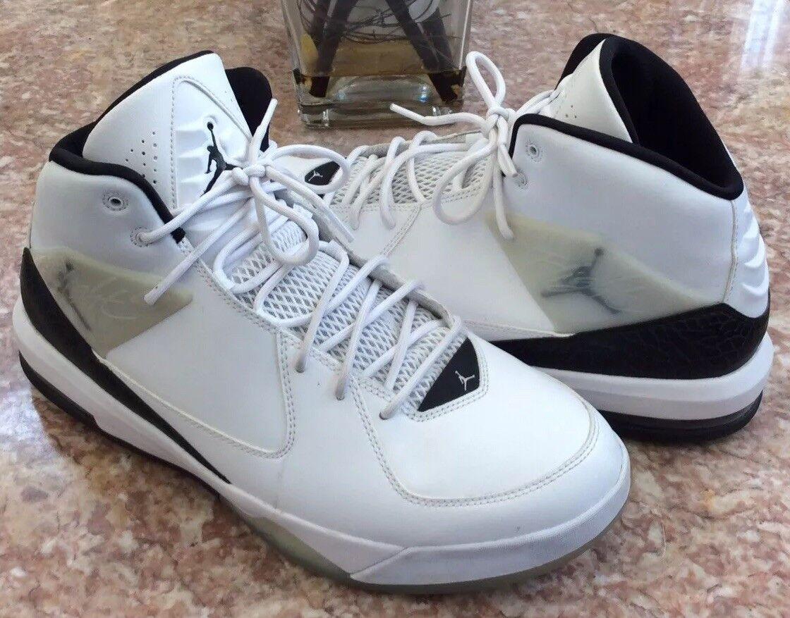 Nike air jordan steigung männer weiße schwarze basketball - schuhe schuhe schuhe sz13 a4a307