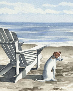 JACK-RUSSELL-TERRIER-Painting-Dog-8-x-10-ART-Print-Signed-by-Artist-DJR