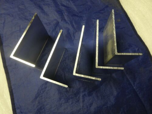 "2/"" X 4/"" ALUMINUM ANGLE 1//8/"" THICK 4/""  IN LENGTH 5 PIECES"