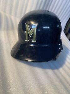 Milwaukee Brewers game Used Worn Batting Helmet #47 Al Reyes navy blue 1990s