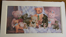 Completed Needle Treasures Colorart Crewel CLASS REUNION Bears Baby Nursery JCA