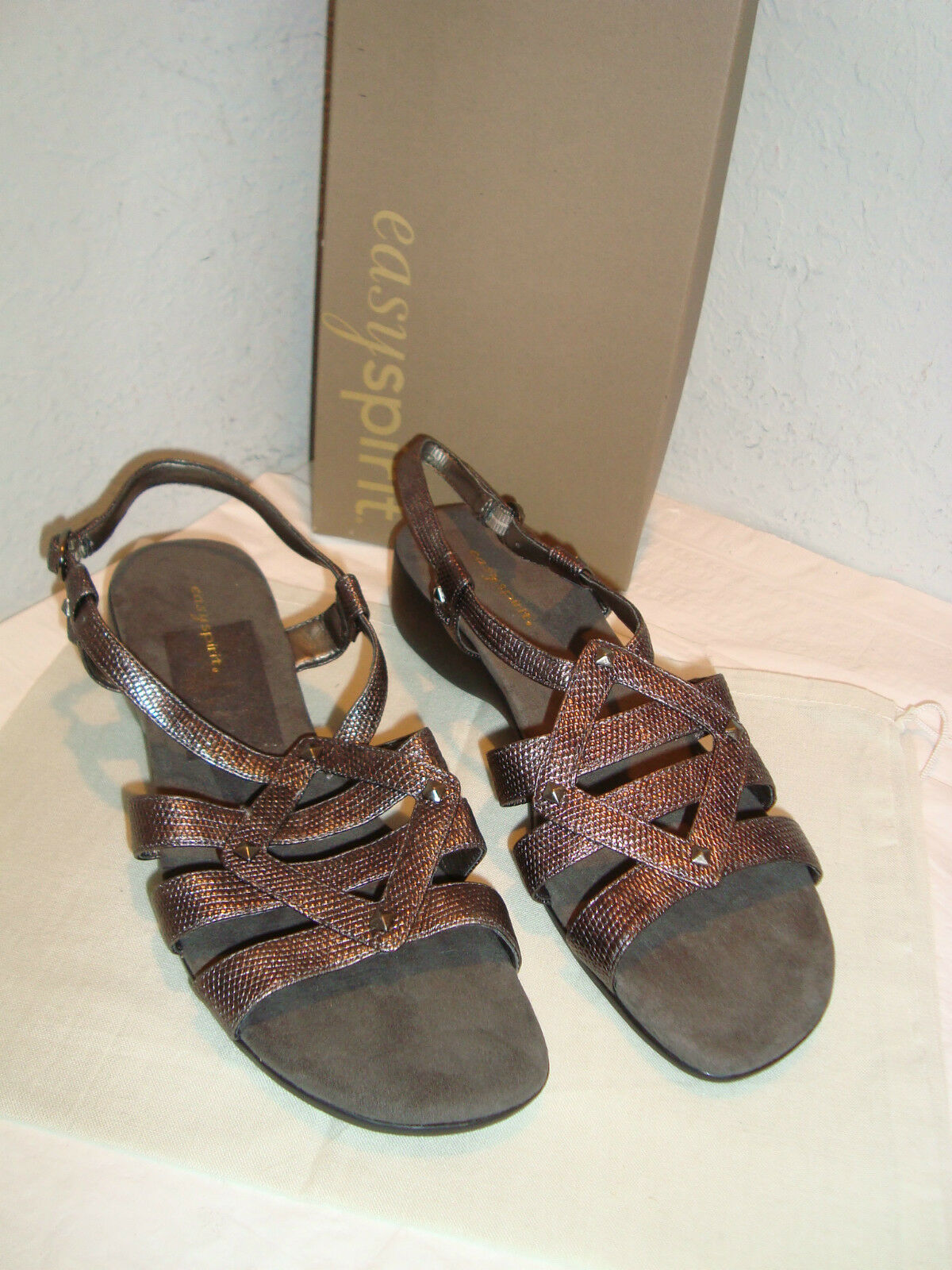 Easy Spirit New Womens Syler Pewter Sandals 9 M shoes