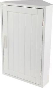 Image Is Loading White Wooden Corner Bathroom Storage Cabinet Cupboard Wall
