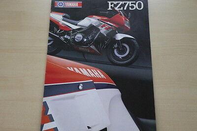 170725 Yamaha Fz 750 Prospekt 04/1986 Quell Sommer Durst Auto & Verkehr