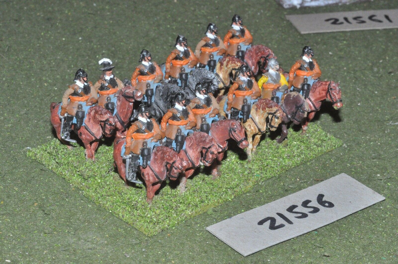 25mm ECW   english - civil war 12 cuirassiers cavalry - cav (21556)