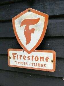 Firestone-Email-Signe-Pneus-Et-Tubes-Firestone-Porcelaine-Signe-Pneu-Pneus-Pneu