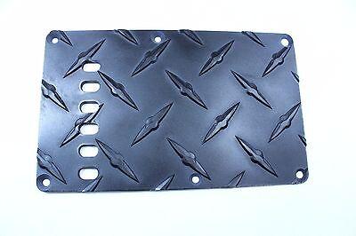 Black Treadplate Tremolo Trem Spring cover  fits Fender Strat Stratocaster