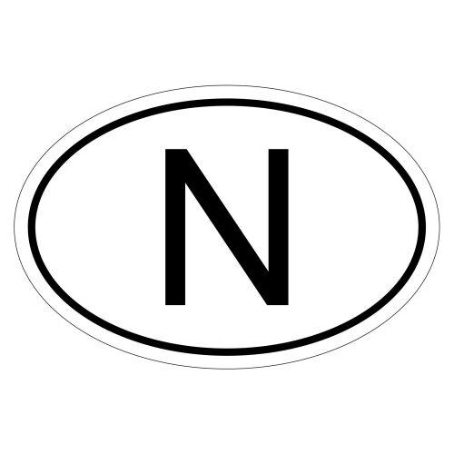 Norway N csd0124 Car Sticker Sticker Car Flag