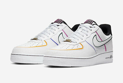 Nike Air Force 1 Low 07 PRM Day of the Dead CT1138 100 White Black 10.5 12 13 | eBay