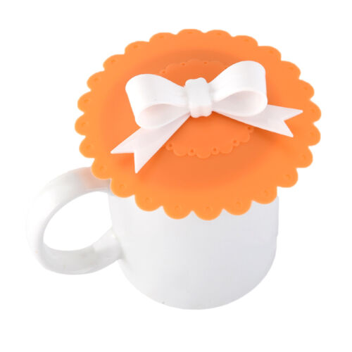 Cute Glass Cup Cover Silicone Bowknot Cup Cover Coffee Mug Suction Seal Lid Cap