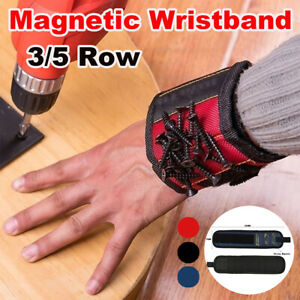 3-5Row-Magnetic-Wrist-Band-Magnet-Strap-Tool-Holder-Belt-Screws-Bolts-Nuts-Nails