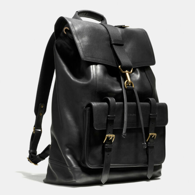 e5de12c14d Coach Bleecker Backpack Book Bag Rucksack in Leather #70786 Mahogany