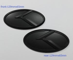 Black K Logo Emblem Badge 2pcs Front+Rear for KIA new Forte YD K3 2014-2015