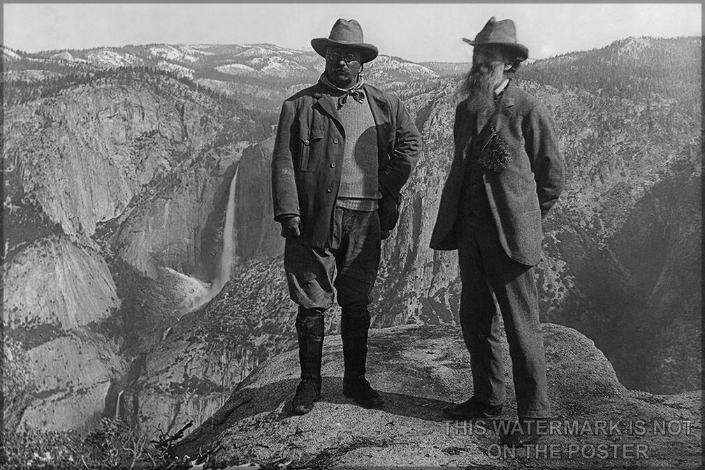 Plakat,Viele Größen; President Theodore Roosevelt (Links) und Natur