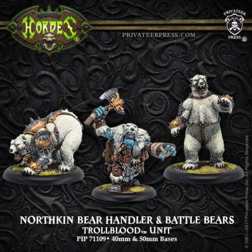 Hordes Trollbloods Northkin Bear Handler /& Battle Bears PIP71109 NIB
