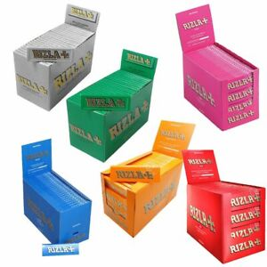 20-RIZLA-BLUE-GREEN-PINK-RED-SILVER-NATURA-LIQUORICE-Regular-Rolling-Papers
