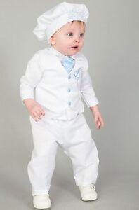 2e887c7e2 Baby Boys Christening Outfit   Christening Suit 4pc Sailor Suit Light Blue
