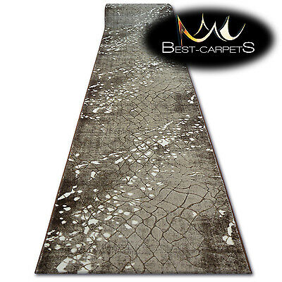 Modern Thick /& Soft Hall Runner VOGUE width 70-100 cm Grey long stairs RUGS