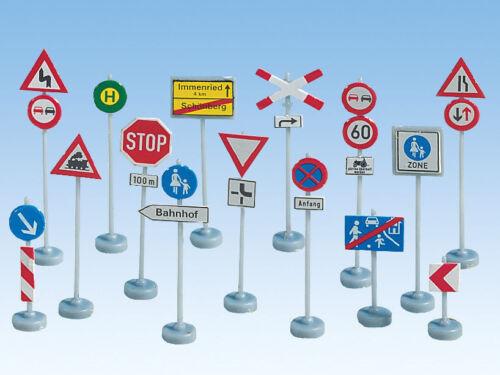 * Noch Scala N 34121 segnali stradali 32 pz in kit di montaggio nuovi OVP