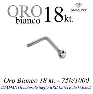Piercing-Orecchino-naso-ORO-BIANCO-18kt-DIAMANTE-taglio-brillante-kt-0-005-griff