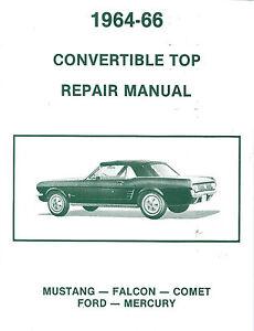 mustang convertible top repair manual ebay