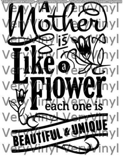 Las madres son como Flores Día De Las Madres Calcomanía Vinilo Sticker Marco Regalo Personalizado