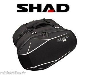 Valises-E-48-SHAD-40-52l-bagage-moto-semi-rigide-side-bag-holder-saddle-etanche