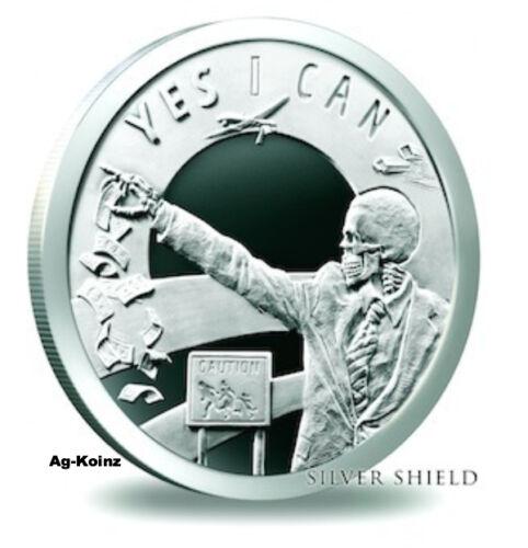 1 oz 2014 Seven 7 Sins of Obama Proof Low COA #101 of 1200 RARE Silver Shield AG