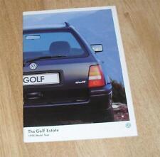 Volkswagen VW Golf Estate Brochure 1998 - 1.9 L Diesel 1.9 TDI CL 1.8 CL 2.0 GL