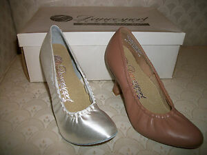Capezio Ballroom Dance Shoes White Satin or Tan Leather Court BR04E New In Box