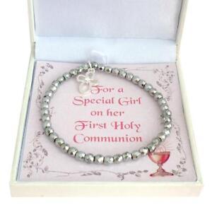 First Holy Communion Bracelet Gift Box For Daughter Granddaughter