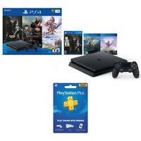 Sony PlayStation 4 1TB Only on PlayStation Console Bundle (Jet Black) + Playstation Plus: 3 Month Membership