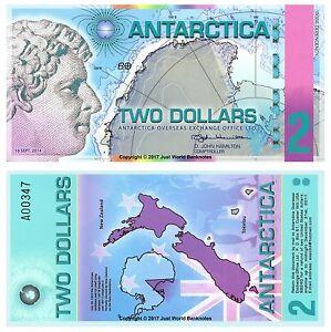 Antarctica-2-Dollars-2014-Polymer-Banknotes-1st-Prefix-UNC