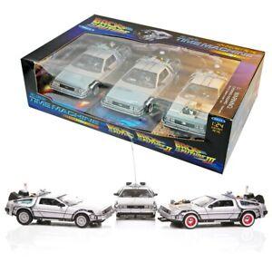 RITORNO FUTURO 1 2 3 Box SET 3 Modelli Metallo 1/24 DieCast DELOREAN Welly NUOVO