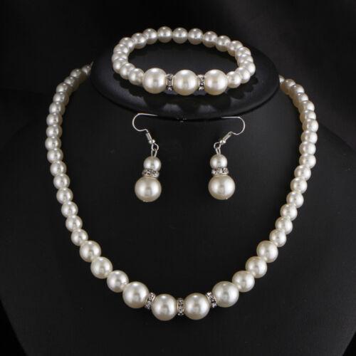 1 Set Fashion Jewelry Pendant Chain Pearl Choker Chunky Statement Bib Necklace