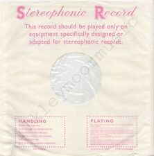 """Vintage INNER SLEEVE or SLEEVES 12"""" DECCA Stereophonic Record red pink v4 x 2"""