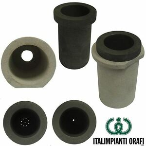 DRILLED GRAPHITE CRUCIBLE WITH SUPPORT FOR GRAIN PRODUCTION, ONE HOLE