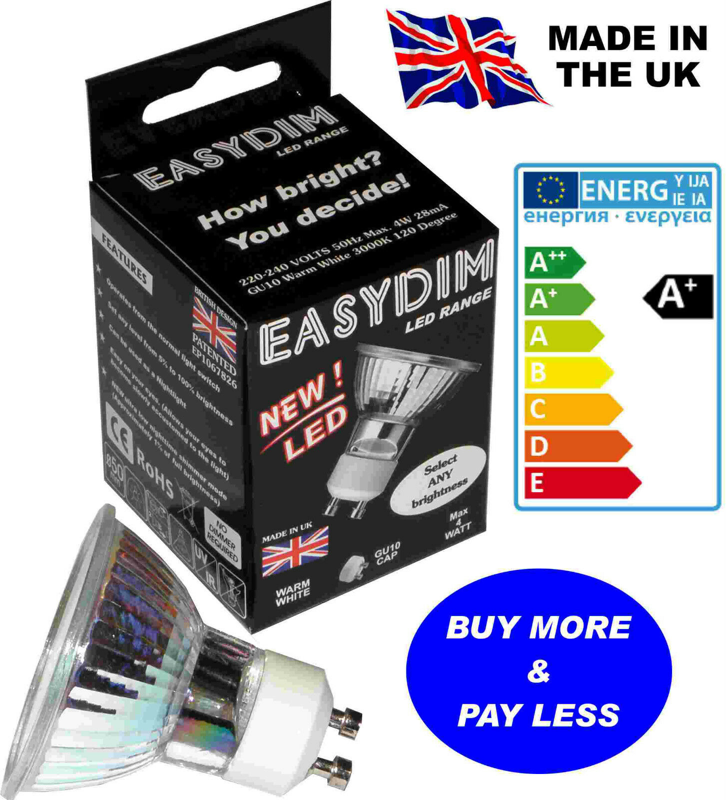 LED spot D I Y WARM mood lighting, dimmable smd lights   bulbs, British CE lamps