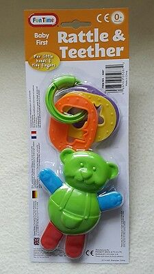 Babyfirst Key Rattle & Teddy Teether,play Activity Set,colourful Learning Fun. Clients First