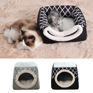 2-In-1-Pet-House-Cat-Dog-Sleeping-Nest-Puppy-Cave-Kennel-Mat-Pad-Cushion-House