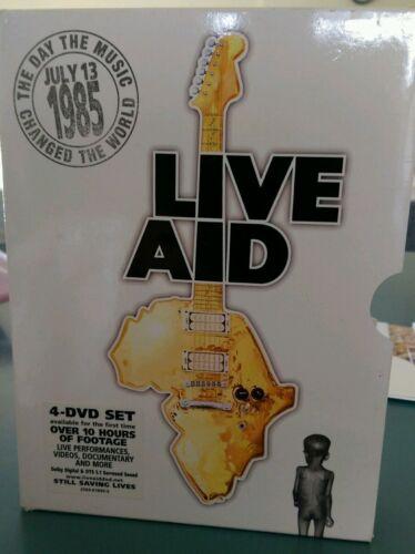 1 of 1 - LIVE AID - 1985 CONCERTS Genuine REGION 4 DVD 4DISC BOXSET ULTRA RARE OOP