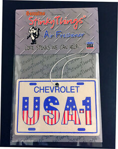 CHEVROLET USA-1 CAR AIR FRESHENER *MIDNIGHT FREEZE rat rod 454  truck chevy